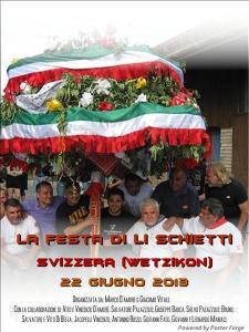 Locandina Festa di li schietti Svizzera